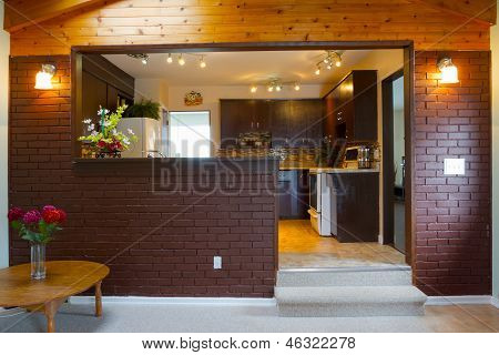 Basement And Kitchen Interior Design