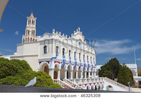 Church at Tinos island in Greece