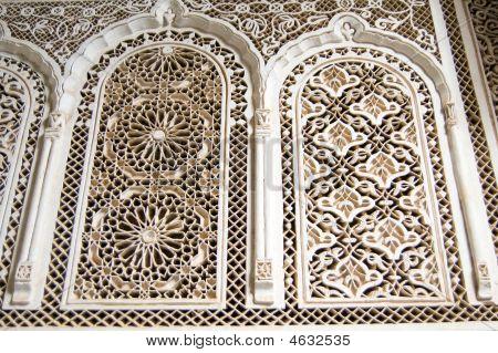Bahia Palace Marrakesh Stucco