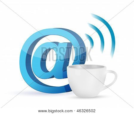Internet Coffee Mug Concept Illustration