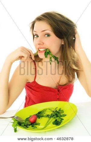 Girl Keeping A Diet