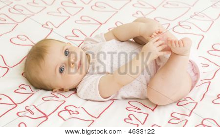 Baby On Hearts