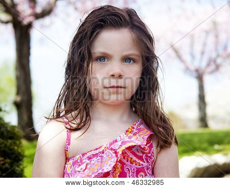 Upset Child Outside In Park