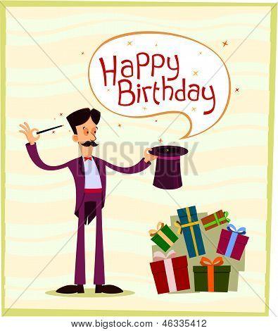 magician birthday greeting