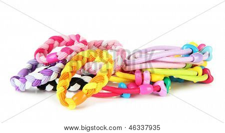 Scrunchies isolated on a white background
