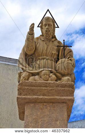 Padre Eterno statue. Presicce. Puglia. Italy.