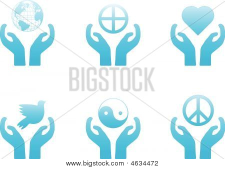 Blue Peace Icons