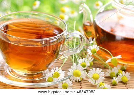 Black tea with fresh herbs