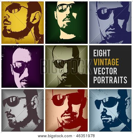 Vintage Vector Portraits