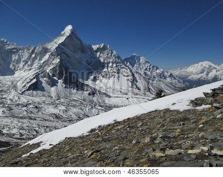 Beautiful Mountain Ama Dablam, Sagarmatha National Park