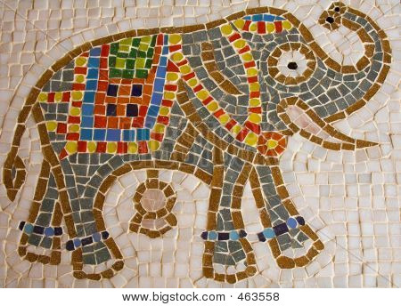 Mosaic Tiled Elephant