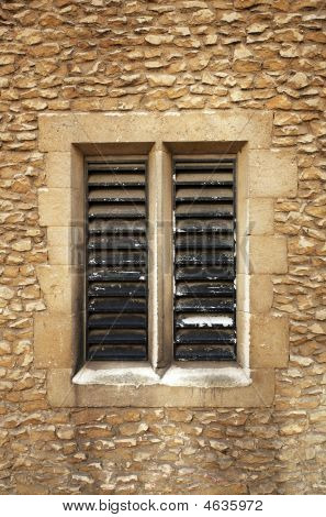Slatted Window In Sandstone Blocks