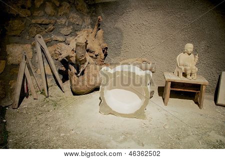 The Stonemason, Old Crafts, Abruzzo, Italy