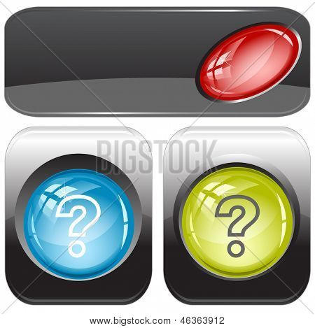 Query. Raster internet buttons.