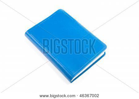 One blue book.