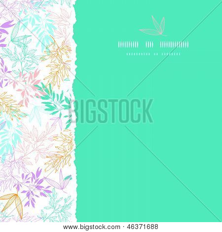 Colorful pastel branches square torn seamless background