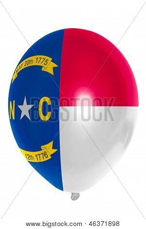 Balloon Colored In  Flag Of American State Of North Carolina
