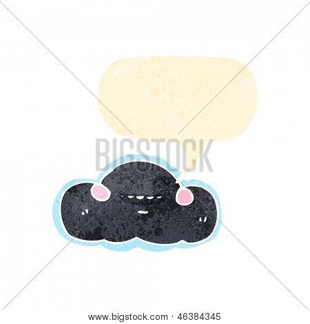 cartoon raincloud symbol