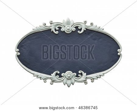 Oval Wood Frame