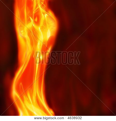 Abstract Female Flames