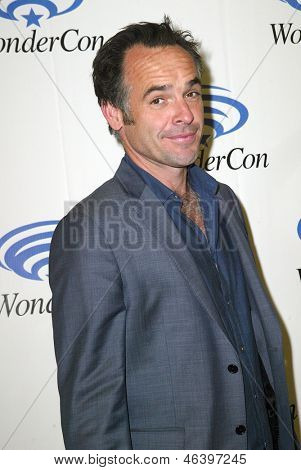 ANAHEIM, CA - MARCH 31: Paul Blackthorne arrives at the 2013 Wondercon convention press room at the Anaheim Convention Center on March 31, 2013 in Anaheim, CA.