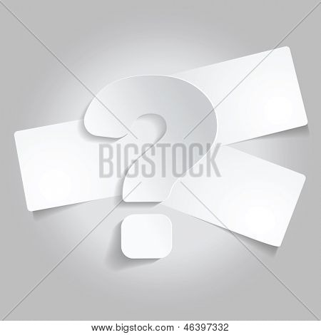 Vector abstract background with a question mark and three tickets for text