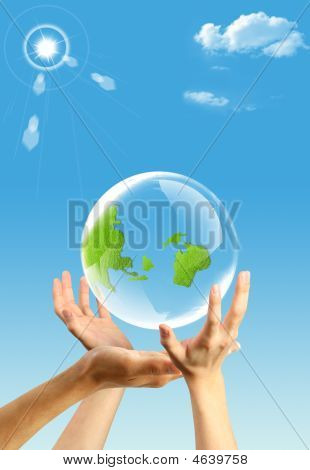 Hands And An Earth