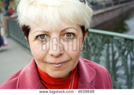 Attentive Senior Woman