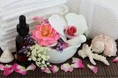 image of elderflower  - Spa and aromatherapy accessories with orchid - JPG