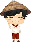 picture of national costume  - Illustration of Cute Little Filipino Boy Wearing Traditional Costume Kamisa de Chino - JPG