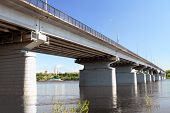 pic of kama  - The automobile bridge through Kama in Perm - JPG