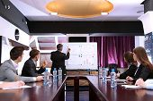 stock photo of summary  - Business training at office - JPG