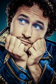 picture of prince charming  - Blue prince dressed with elegant prussian blue jacket - JPG