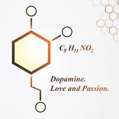 foto of neurotransmitter  - Dopamine molecule - JPG