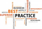 stock photo of benchmarking  - A word cloud of best practice related items - JPG