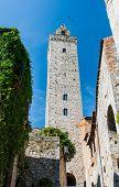 Tower In San Gimignano, Toscana Landmark poster