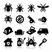 stock photo of cockroach  - Exterminator Icons - JPG