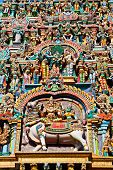 pic of meenakshi  - relief of menakshi temple madurai tamil nadu india - JPG