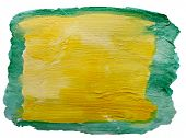art green yellow watercolor isolated for your design