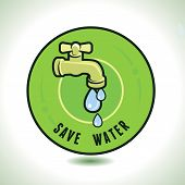pic of water-saving  - Vector ecology concept  - JPG