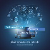 stock photo of workstation  - Cloud Computing Concept - JPG