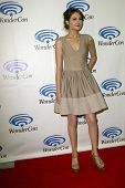 ANAHEIM, CA - MARCH 31: Willa Holland  arrives at the 2013 Wondercon convention press room at the An