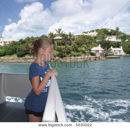 Girl on Caribbean Boat