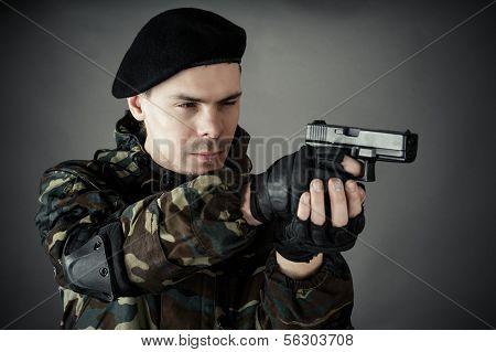 man practiced in improving shooting skills