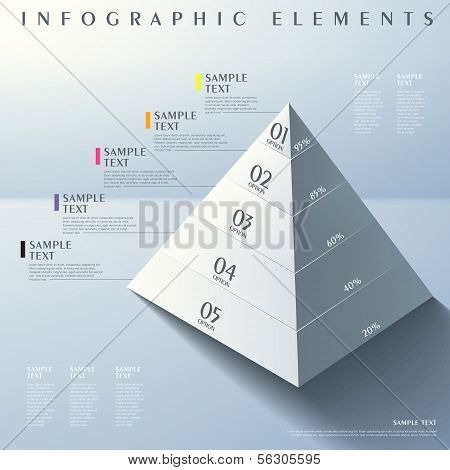 3D Abstract Pyramid Infographics