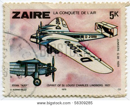 Stamp from Zaire Aviation