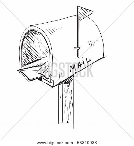 Mailbox cartoon icon