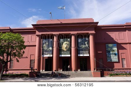 The National Museum Of Fine Arts In Buenos Aires