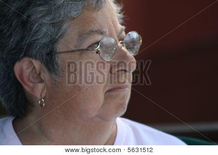 Contemplating Senior Woman