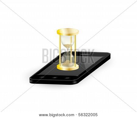 phone And Sandclock